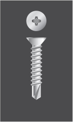 Tornillo Autoperforante  Cabeza Phillips FRESADA con Mecha (Philips Flat Head)