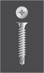 Tornillo Autoperforante  Cabeza Phillips TROMPETA con Mecha (Philips Bugle Head)